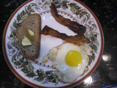 Home Cured Bacon, Eggs and Whole Wheat Sourdough